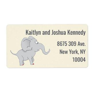 新しいお母さんに名誉を与えるかわいい象|のベビーシャワー ラベル