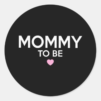 新しいお母さんのためのかわいい印刷されたTシャツがあるお母さん ラウンドシール