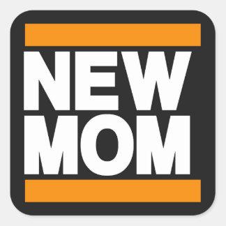 新しいお母さんのオレンジ スクエアシール