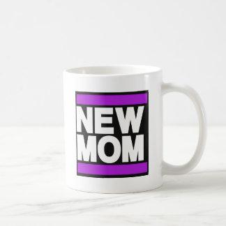 新しいお母さんの紫色 コーヒーマグカップ