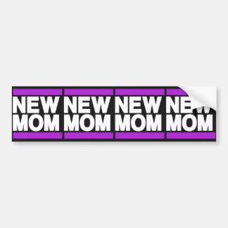 新しいお母さんの紫色 バンパーステッカー