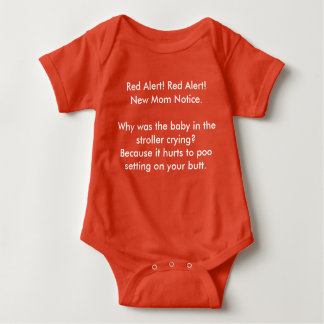 新しいお母さんの通知の非常警報 ベビーボディスーツ