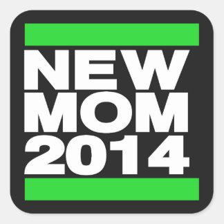 新しいお母さん2014の緑 スクエアシール