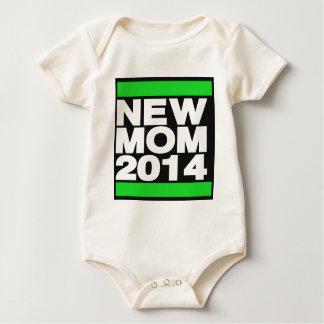 新しいお母さん2014の緑 ベビーボディスーツ