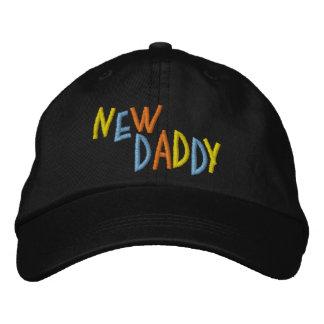新しいお父さん 刺繍入りキャップ