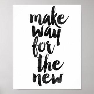 新しいののための方法を作って下さい ポスター