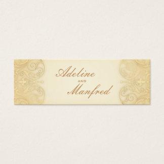 新しいのビクトリア時代の人の淡い色のな金ゴールドの空想の結婚式のウェブサイト スキニー名刺