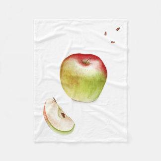 新しいりんご フリースブランケット