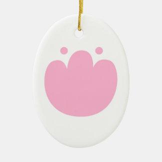 新しいアクリルの新しいピンクのチューリップ。 店の新しい到着 陶器製卵型オーナメント
