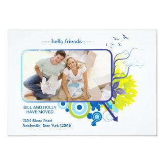 新しいアパートの写真の移動発表 カード