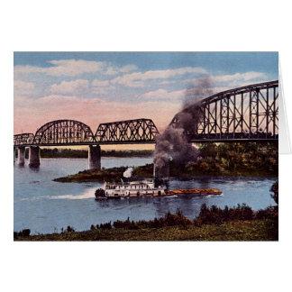 新しいアルバニーインディアナの鉄道橋 カード