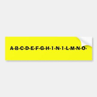 新しいアルファベット バンパーステッカー