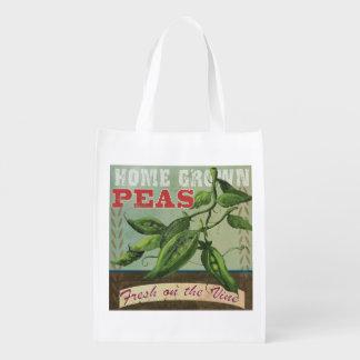 新しいエンドウ豆のヴィンテージのエコバッグ エコバッグ