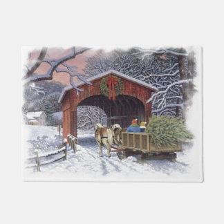 新しいクリスマスツリー ドアマット