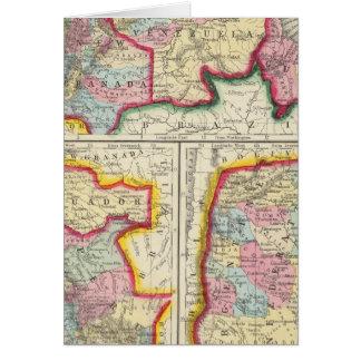 新しいグラナダ、ベネズエラおよびギアナの地図 カード