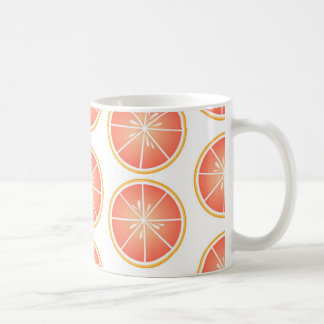 新しいグレープフルーツパターン コーヒーマグカップ