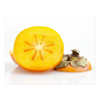 新しいスライスされた柿の郵便はがき ポストカード