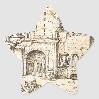 新しいセントピーターのバシリカ会堂の建築 星シール
