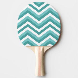 新しいターコイズの水生シェブロンのジグザグパターン 卓球ラケット