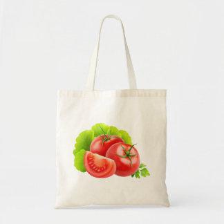 新しいトマトが付いているバッグ トートバッグ