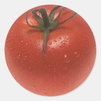 新しいトマト 丸形シール・ステッカー