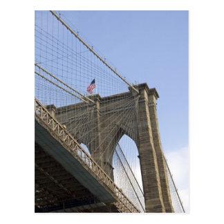 新しいニューヨークシティのブルックリン橋 ポストカード