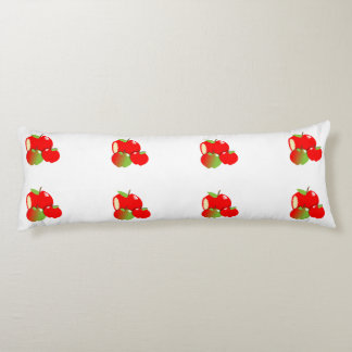 新しいバラ色の赤くフルーツのようなりんご ボディピロー