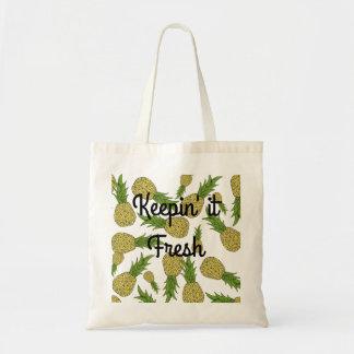 新しいパイナップル買い物袋 トートバッグ