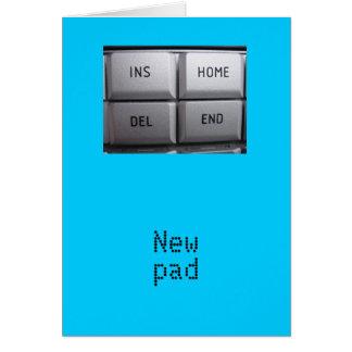 新しいパッドカード グリーティングカード