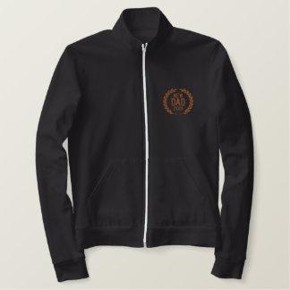 新しいパパは年の月桂樹の刺繍を個人化します 刺繍入りジャケット