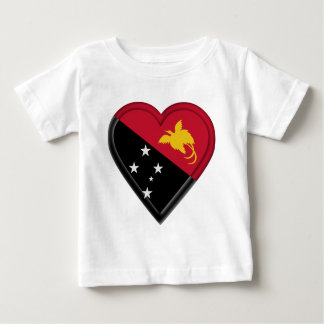 新しいパプアの旗ギニー ベビーTシャツ