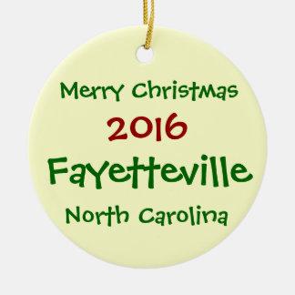 新しいフェーエットビルノースカロライナのクリスマスのオーナメント セラミックオーナメント
