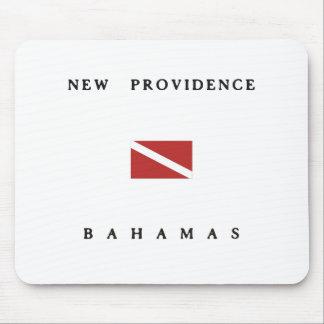 新しいプロヴィデンスバハマのスキューバ飛び込みの旗 マウスパッド