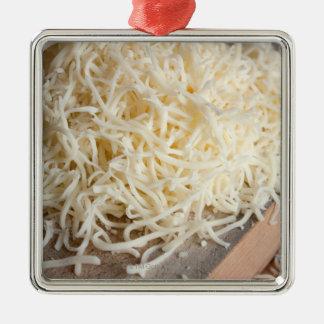 新しいモツァレラのチーズの山 メタルオーナメント