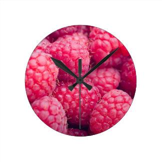 新しいラズベリー ラウンド壁時計
