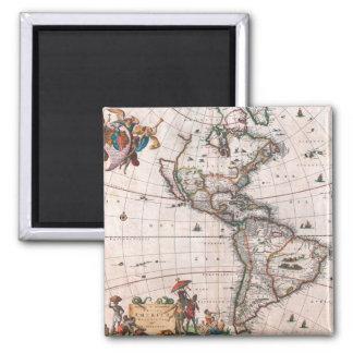 新しい世界のVisscherの地図 マグネット