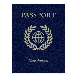 新しい住所パスポート 葉書き