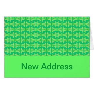 新しい住所明るいライムグリーン カード