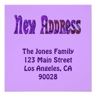 新しい住所 カード