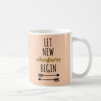 新しい冒険の引用文 コーヒーマグカップ
