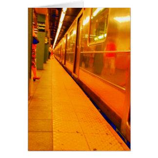 新しい地下鉄車のブランクの挨拶状 カード