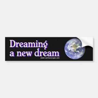 新しい夢のステッカーを夢を見る精神の道 バンパーステッカー