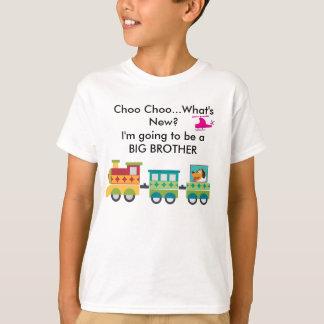 新しい妊娠の発表T-Shirはである何Choo Choo Tシャツ