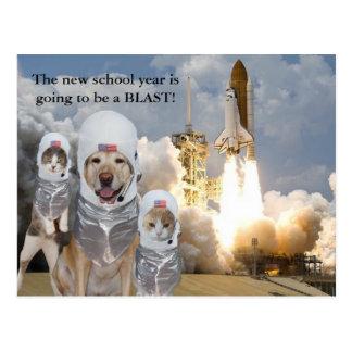 新しい学年のカスタマイズ可能な先生の郵便はがき ポストカード