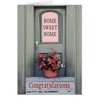 新しい家のお祝いの挨拶状 カード