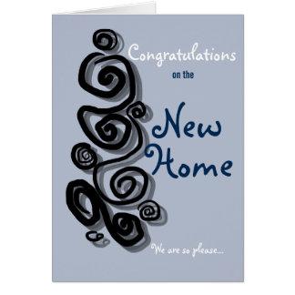 新しい家のお祝い私達はとても嬉しいです カード