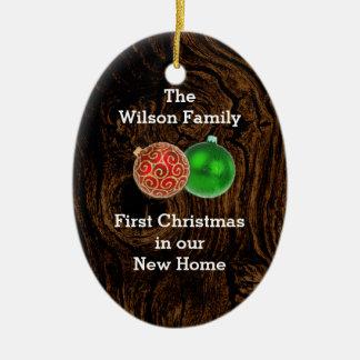 新しい家のカスタムなオーナメントの木製の初めてのクリスマス セラミックオーナメント
