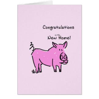 新しい家の挨拶状のお祝い カード