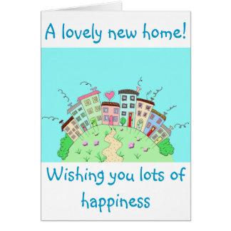 新しい家の挨拶状 カード