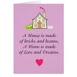 新しい家の挨拶状 グリーティングカード
